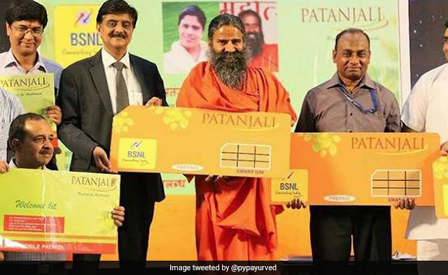 Patanjali with BSNL launches Swadeshi Samriddhi SIM-card