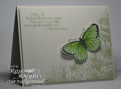 "Our Daily Bread designs ""Faith"", ""Butterfly Corner"" Designer Rosemary Dennis"