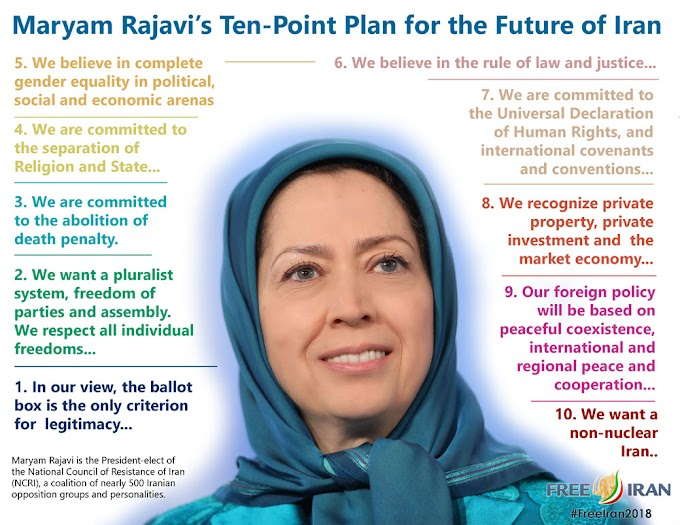 Maryam Rajavi's Ten Point Plan for Future Iran