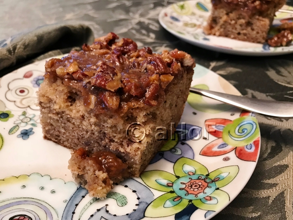 Banana Cake with Broiled Topping