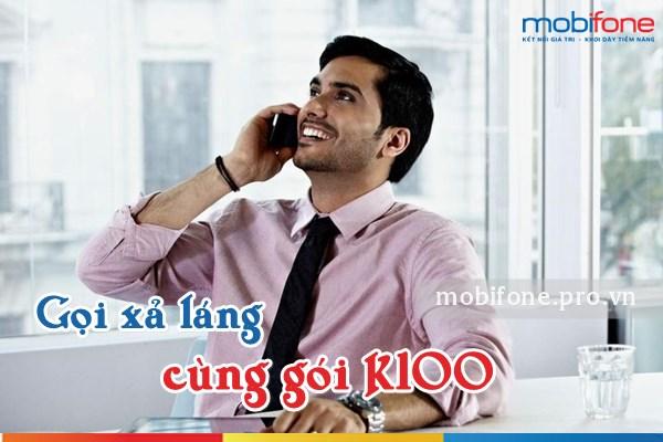 Ưu đãi thoại cực khủng từ gói K100 Mobifone