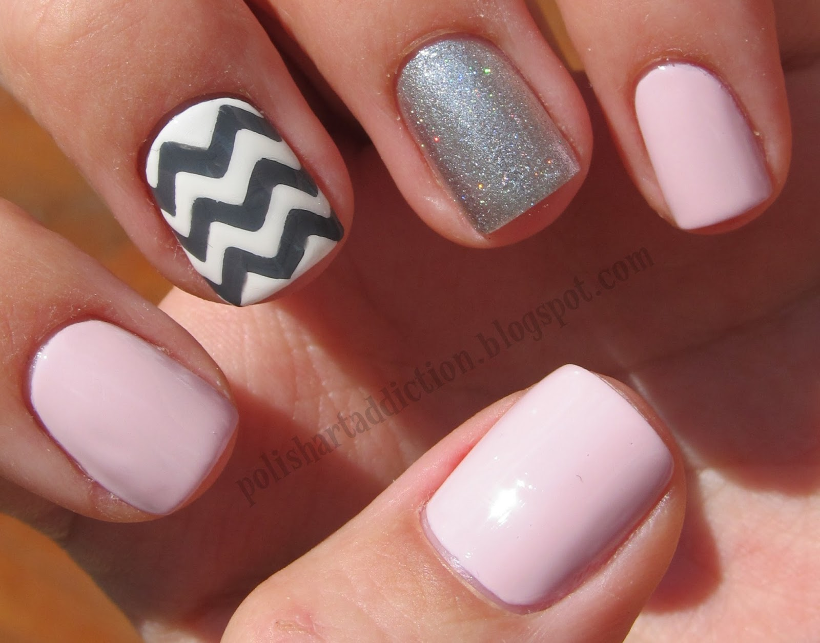 Pink, Gray, & Chevron