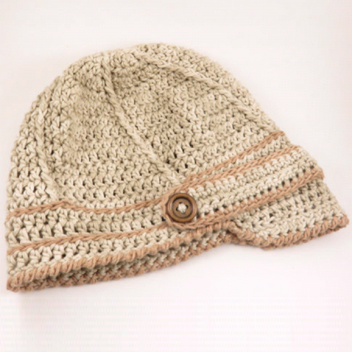 Baby Newsboy Hat - Free Pattern