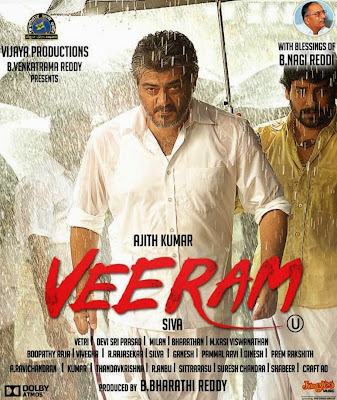 Poster Of Veeram (2014) In hindi dubbed 300MB Compressed Small Size Pc Movie Free Download Only At worldfree4u.com