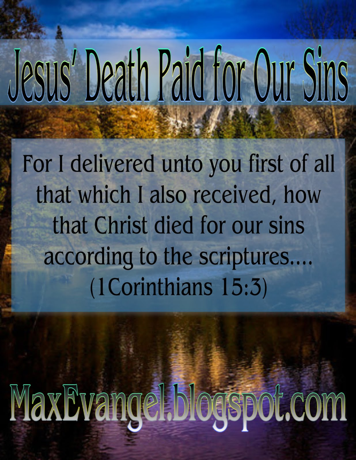 Jesus' Death Paid for Our Sins