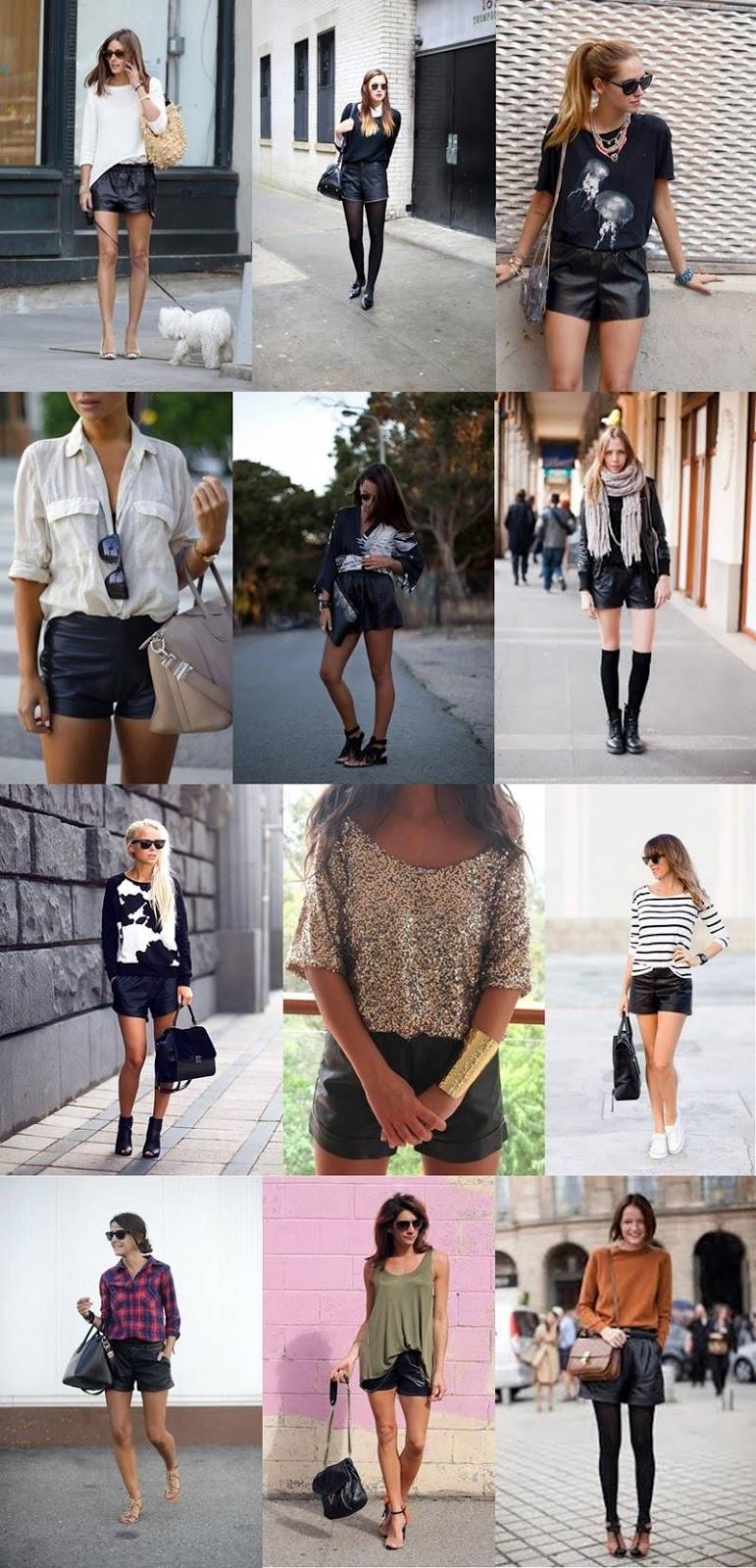 INSPIRATION \ Leather Shorts