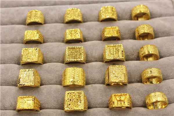 Nhẫn vàng chữ Hán fullbox giá sỉ
