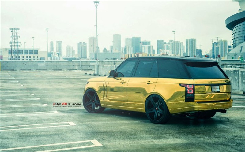 Golden Range Rover