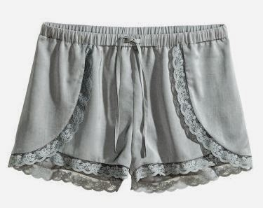 lace grey shorts