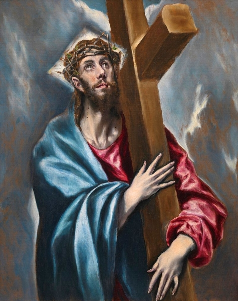 Crist abraçat a la creu (Doménikos Theotokópulos 'El Greco')