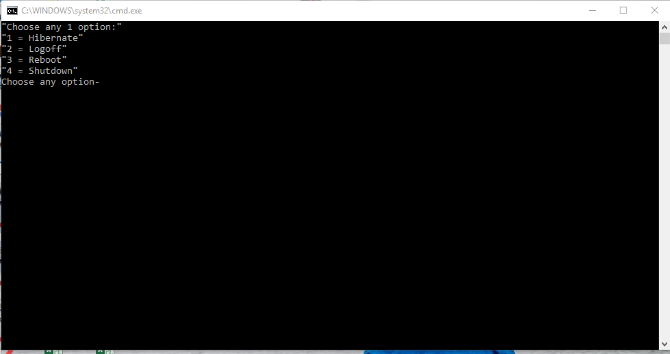 How to shutdown Windows 10 pc using cmd shutdown command?