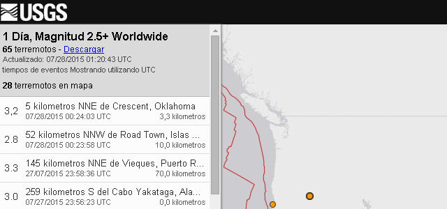 USGS - Solo Nuevas