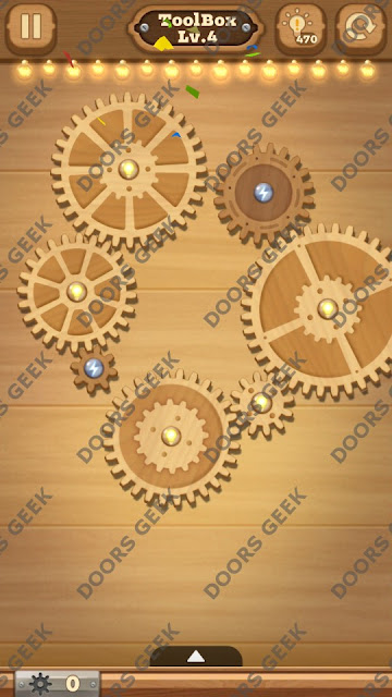 Fix it: Gear Puzzle [ToolBox] Level 4 Solution, Cheats, Walkthrough for Android, iPhone, iPad and iPod