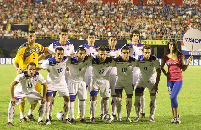 Formación de Paraguay ante Chile, amistoso disputado el 15 de febrero de 2012