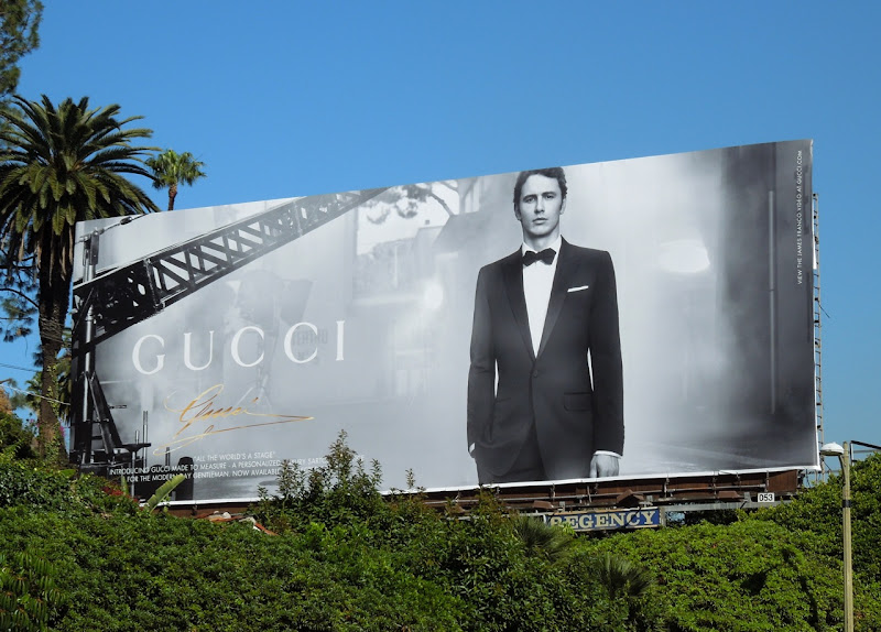 Gucci made to measure billboard