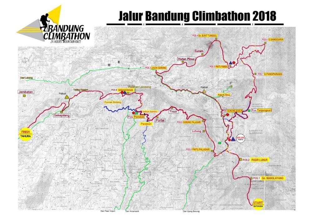 Bandung Climbathon Route • 2018
