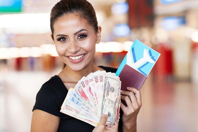 Membawa uang cash