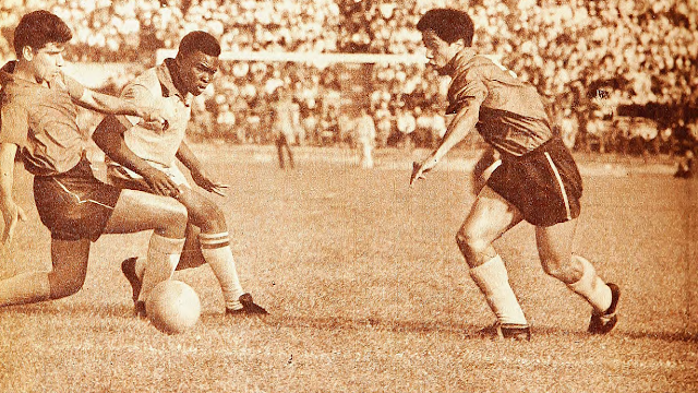 Chile y Brasil en Copa O'Higgins 1961, partido de vuelta