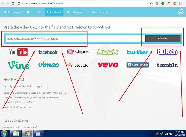 Cara Download Video di Facebook Lewat DREDOWN.COM Tanpa Aplikasi 2019 4