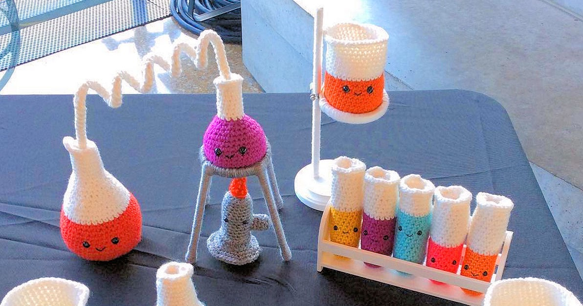 Adorable Crocheted Chemistry Set