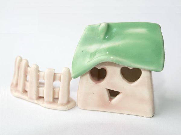 Ceramiczny domek miniaturka