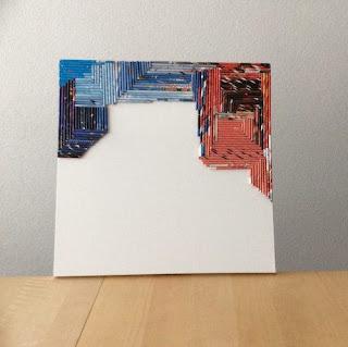 schilderij van papieren pijltjes