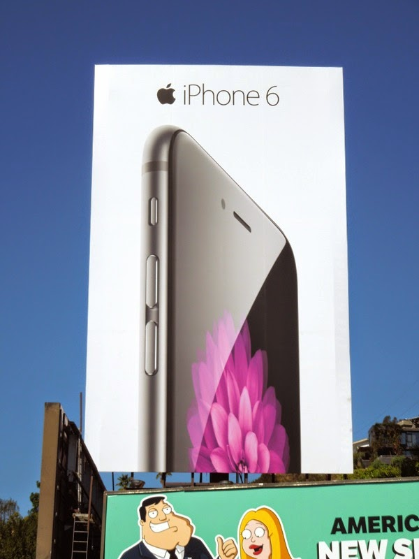 Giant Apple iPhone 6 launch billboard