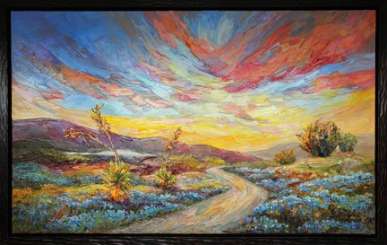 New Springs Glory Texas Hill Country Oil Painting By Niki Gulley
