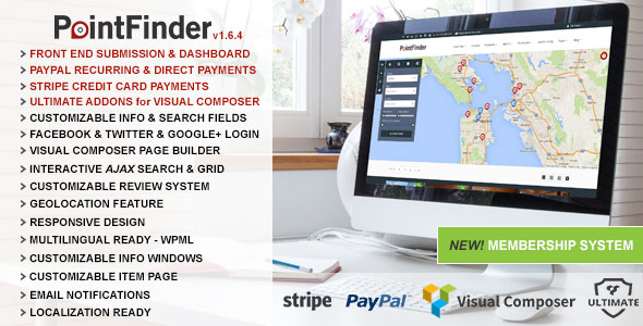 Free download latest version of Point Finder V1.6.4  Versatile Directory And Real Estate Wordpress Theme