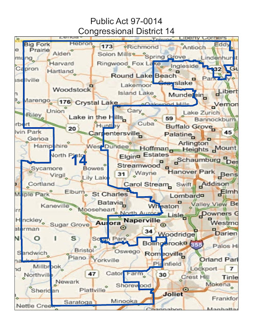 Will County Politics: Maps of Illinois Congressional Districts 2014