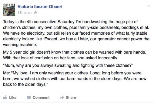 A Nigerian Mother Laments Over Power Outage In The Country