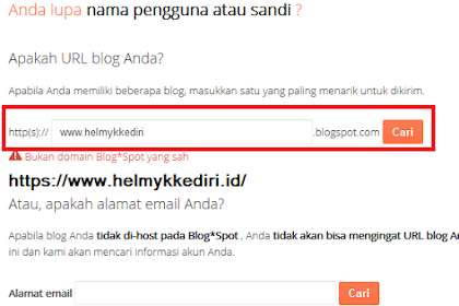 Cara mengetahui alamat email blog yang lupa