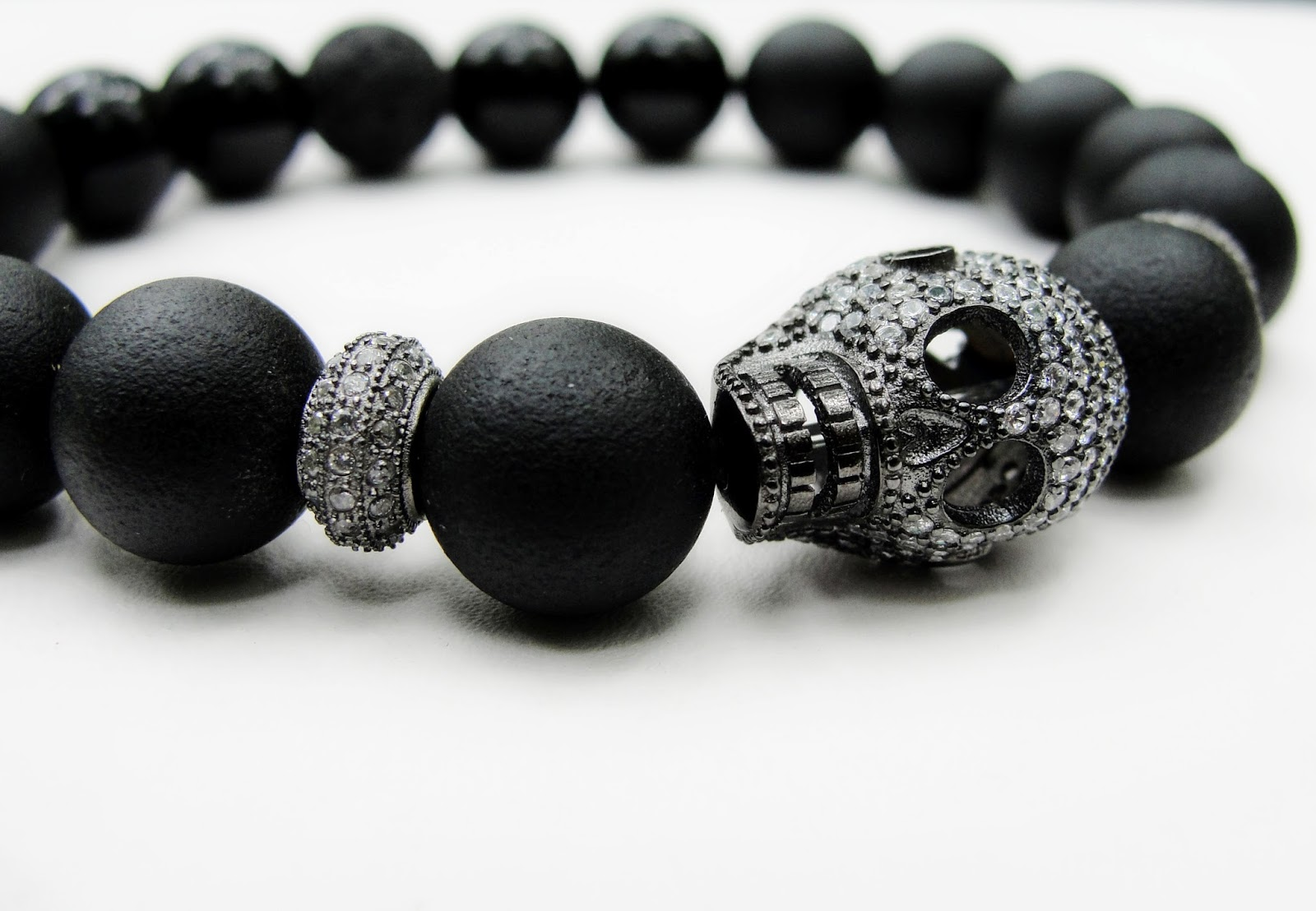 Cranium Noir Skull Onyx Bracelet Just Released At Boybeads