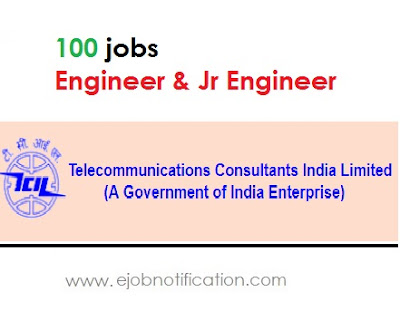 TCIL Delhi 100 Engineer & Jr Engineer job Recruitment 2017 in india www.tcil-india.com