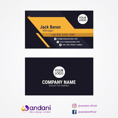 Flat business card creative