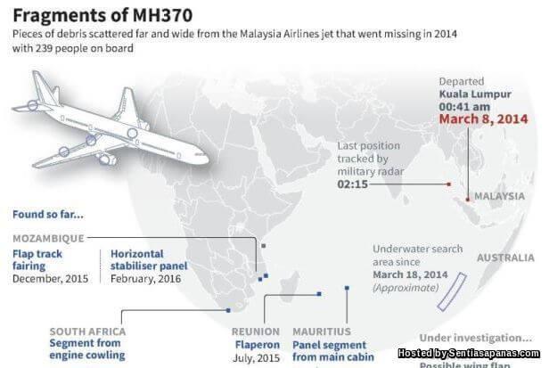 MH370 Menjunam
