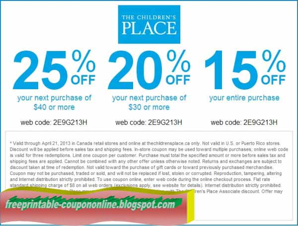 Childrensplace com coupon code