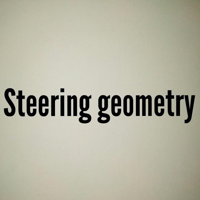 Explaing steering geometry.