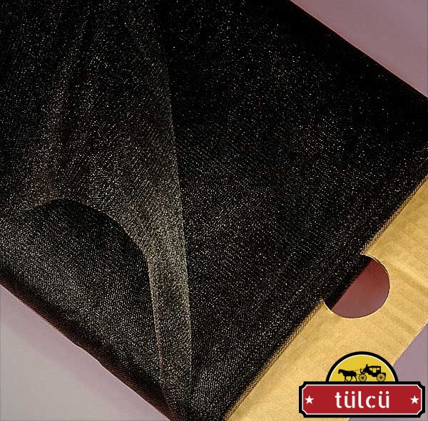 Siyah Kristal Tül 50 Metre