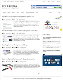 New Super SEO - Template Simple Bersih dan Ringan untuk Blog Pribadi