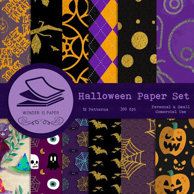 Halloween Paper Set