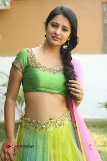 Actress Nikitha Bisht Stills in Lehenga Choli at Pochampally Ikat Art Mela Launch  0163.JPG
