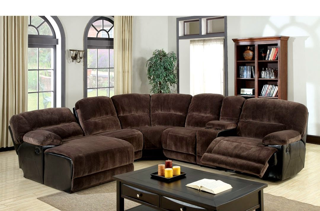 Kirawsk Microfiber Recliner Sectional Sofa Couch Chaise : reclining couch with chaise - Sectionals, Sofas & Couches