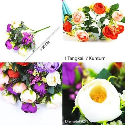 Bunga Plastik / Bunga Artificial Camellia (Seri C98)