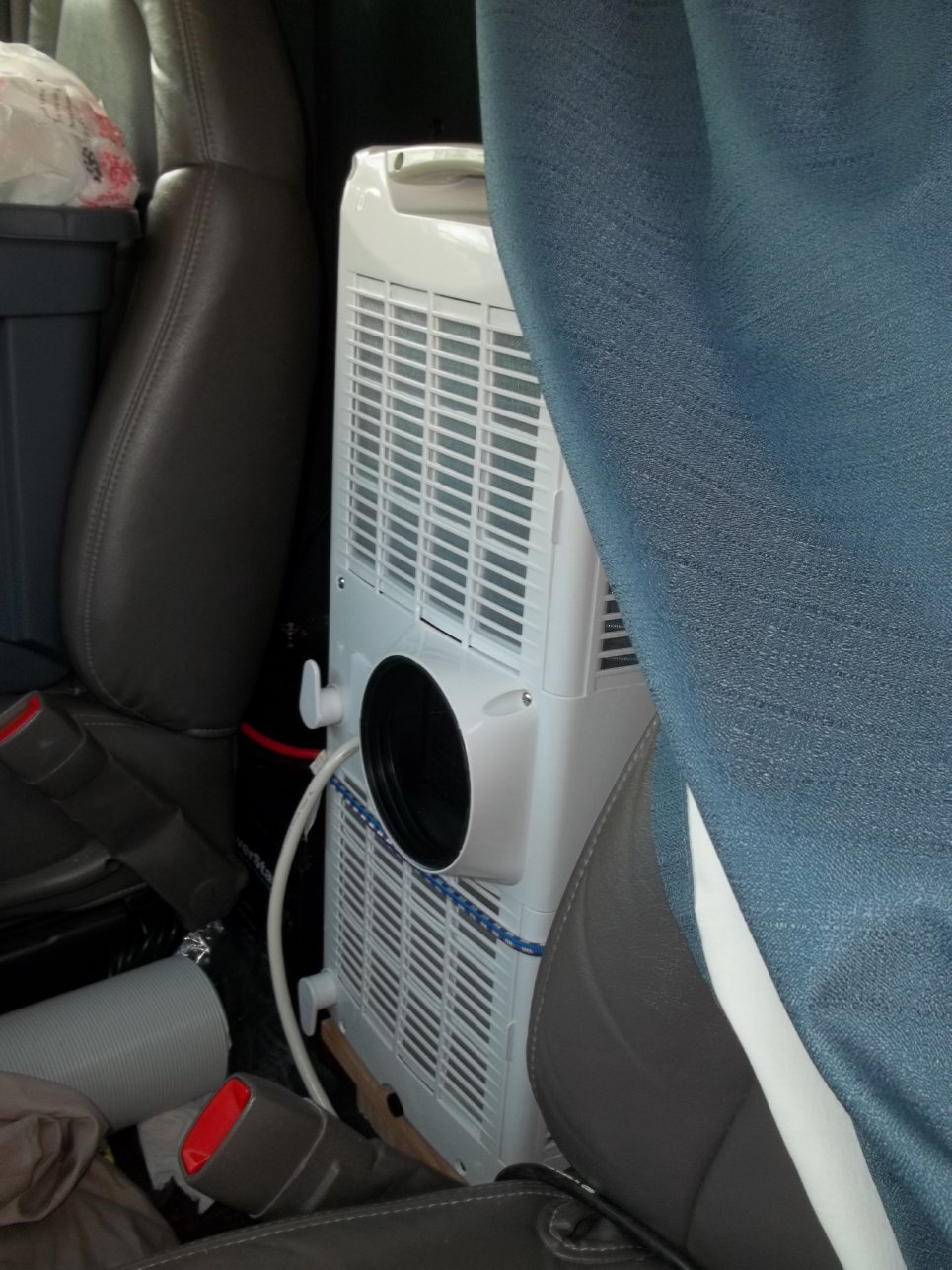 A Stealthy Onboard Air Conditioner Van Trekker