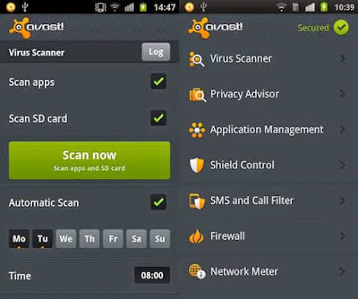 Antivirus Android Terbaik - Avast Mobile Security
