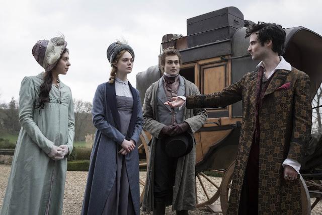 Bel Powley, Elle Fanning, Douglas Booth, Tom Sturridge - Mary Shelley (2017)