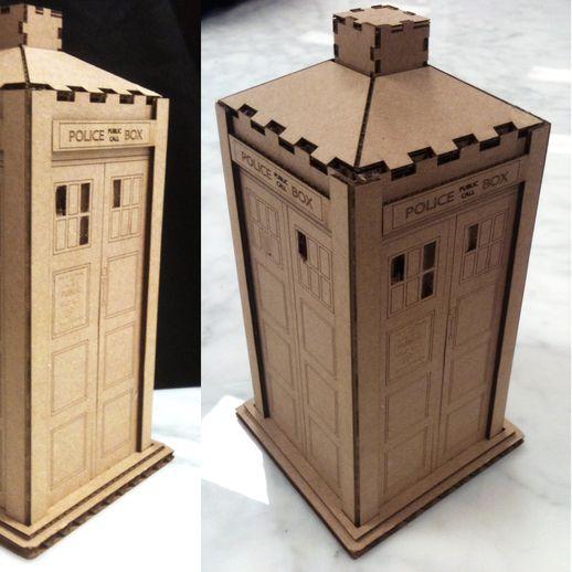 DIY-Cardboard-Doctor-Who-Tardis How To Make A Tardis Card