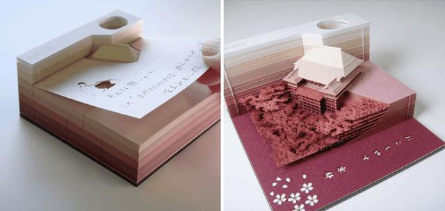 block-omoshio-cuadernos-muestran-esculturas