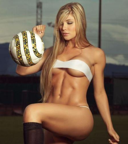 Body Paint Football Grils Womrn